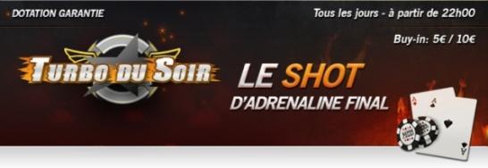 Tournoi Turbo du Soir sur Eurosport Poker